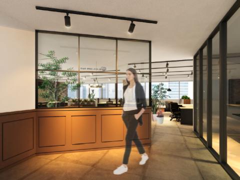 名古屋営業所、移転予定後のパースデザインを公開します。