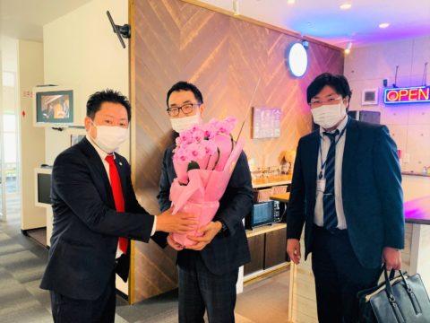 株式会社愛知銀行 刈谷支店様よりお祝いの花を頂きました。